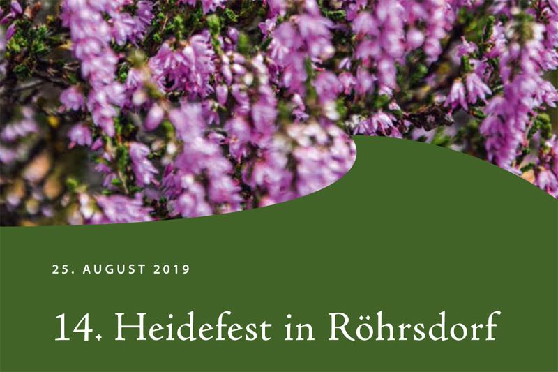 Heidefest in Röhrsdorf 2019